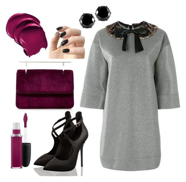 """""""Purple bag"""" by gforfashion on Polyvore featuring Fleur du Mal, Gucci, West Coast Jewelry, Incoco and MAC Cosmetics"""