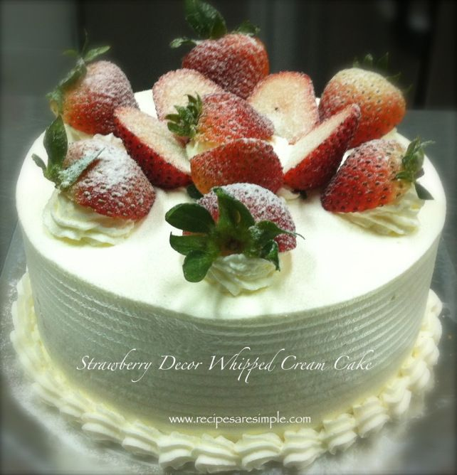 Strawberry and Whipped Cream Sponge Cake - LEARN HOW TO MAKE THIS LOVELY CAKE for birthdays or special occasions - WITH VIDEO.
