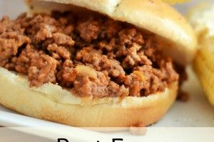 Best Sloppy Joe Recipe ~Made this tonight, so good! I cut the recipe in half and there was plenty for the three of us. I used cider vinegar per the comments in the recipe.