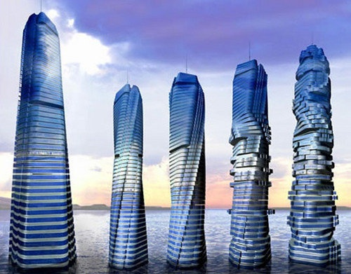 rotating Wind power tower to begin construction in Dubai.