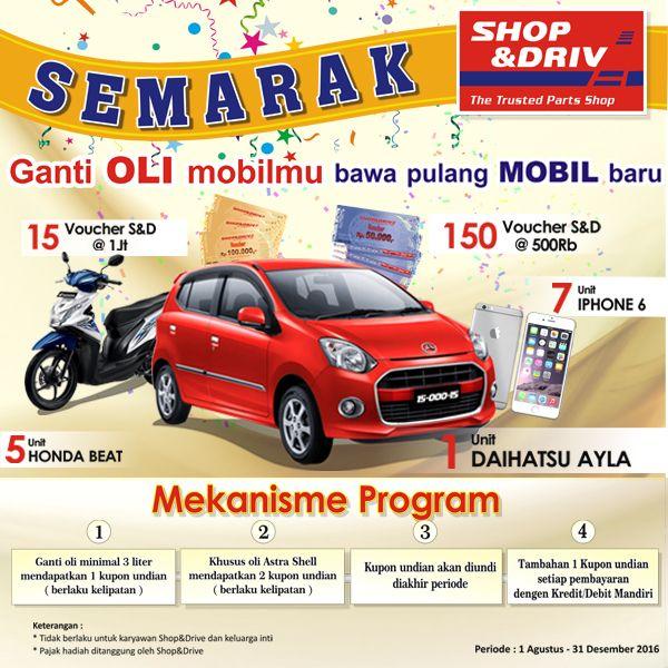 semarak shop&drive   Ganti oli pada semua jenis kendaraan bermotor merupakan ritual rutin yang wajib dilakukan untuk menjaga kendaraan sel...