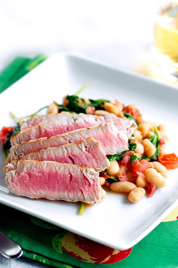 Tuna Steaks with White Beans image