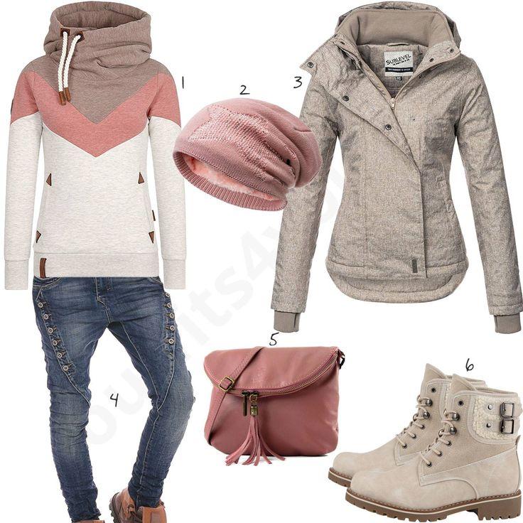 Lässiger Style mit Hoodie, Stiefeln und Boyfiend-Jeans – Outfits4You