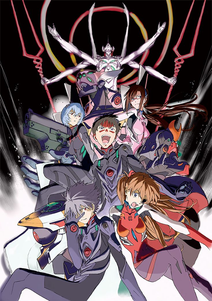 Illustration for Fields' Evangelion pachinko game 'CR