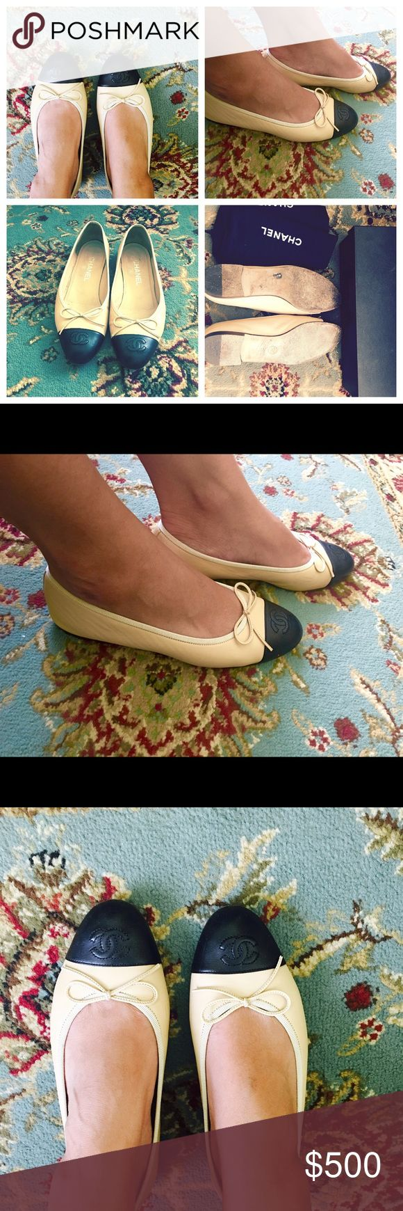 Authentic Chanel flats Purchased last year from Neiman Marcus Gentle wear! Chanel Shoes Flats & Loafers