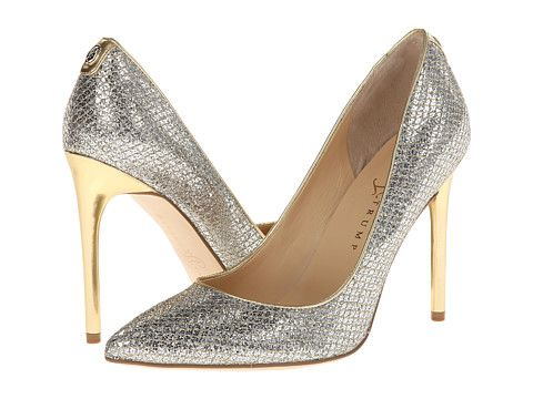 The best metallic heels. The fabric/print is just like designer Jimmy  Choo's but