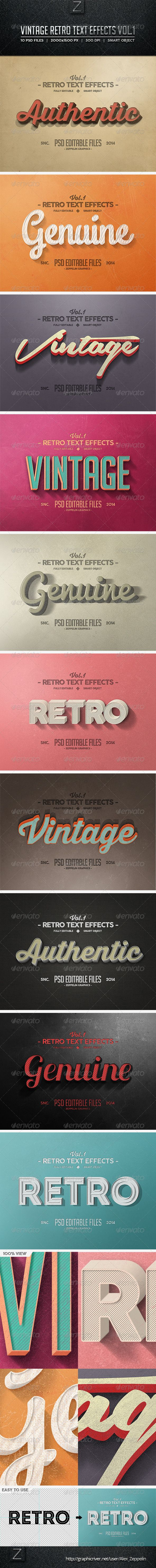 Vintage Text Effects Vol.1
