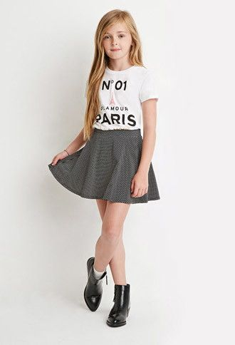 Polka Dot Skater Skirt (Kids) | Forever 21 girls - 2000172995