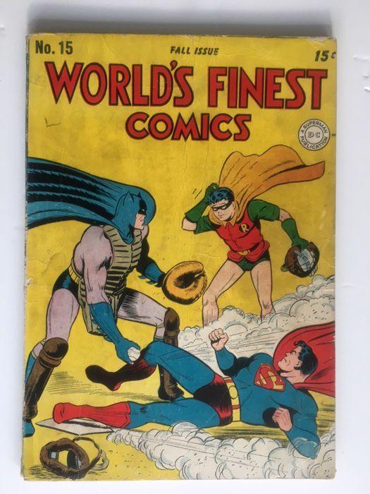 Catawiki online auction house: DC Comics - World's Finest #15 - Rare Golden Age Book - 1x sc - (1944)