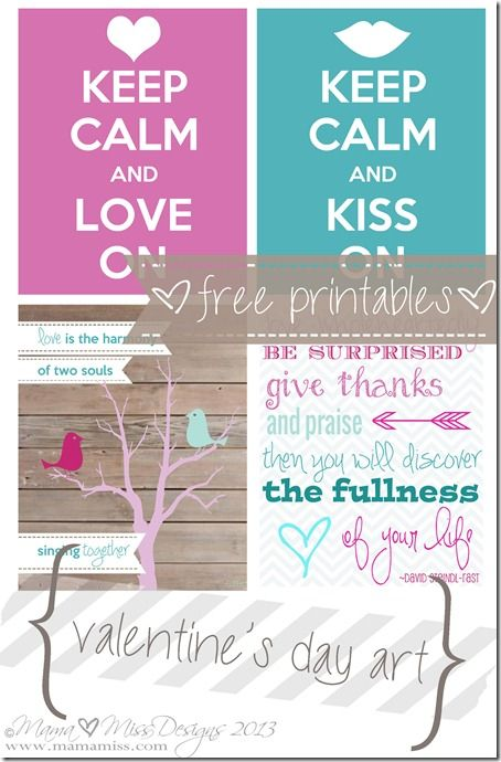 Valentine's Day Art - Free Printables http://www.mamamiss.com ©2013