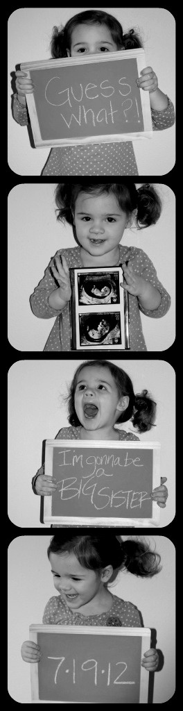 Baby #2 announcement. how darn cute is this!!!