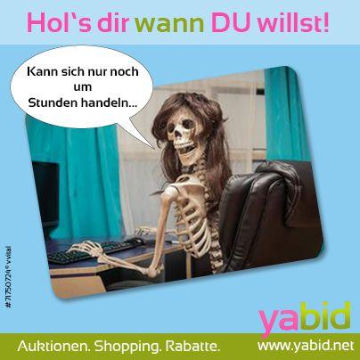 Ewig warten aufs #Ende der #Auktion? Nicht bei #Yabid! Hier bestimmst DU, wann die #Auktion aufhört! Hol's dir wann DU willst! www.yabid.net