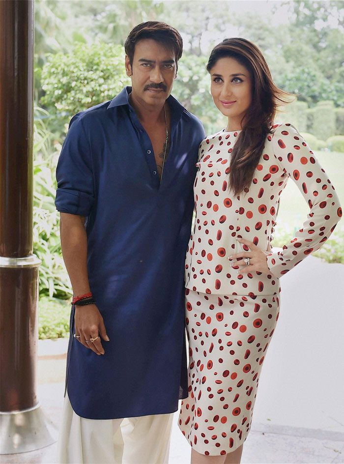 Ajay Devgn and Kareena Kapoor in New Delhi for the last leg of their promotions…