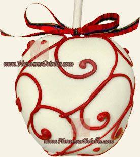 Manzana con cobertura de chocolate