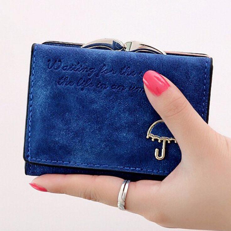 fac346418a8c1 Women Letter Pattern Nubuck Lovely Umbrella Short Wallet Card Holder C –  Fashion Terras