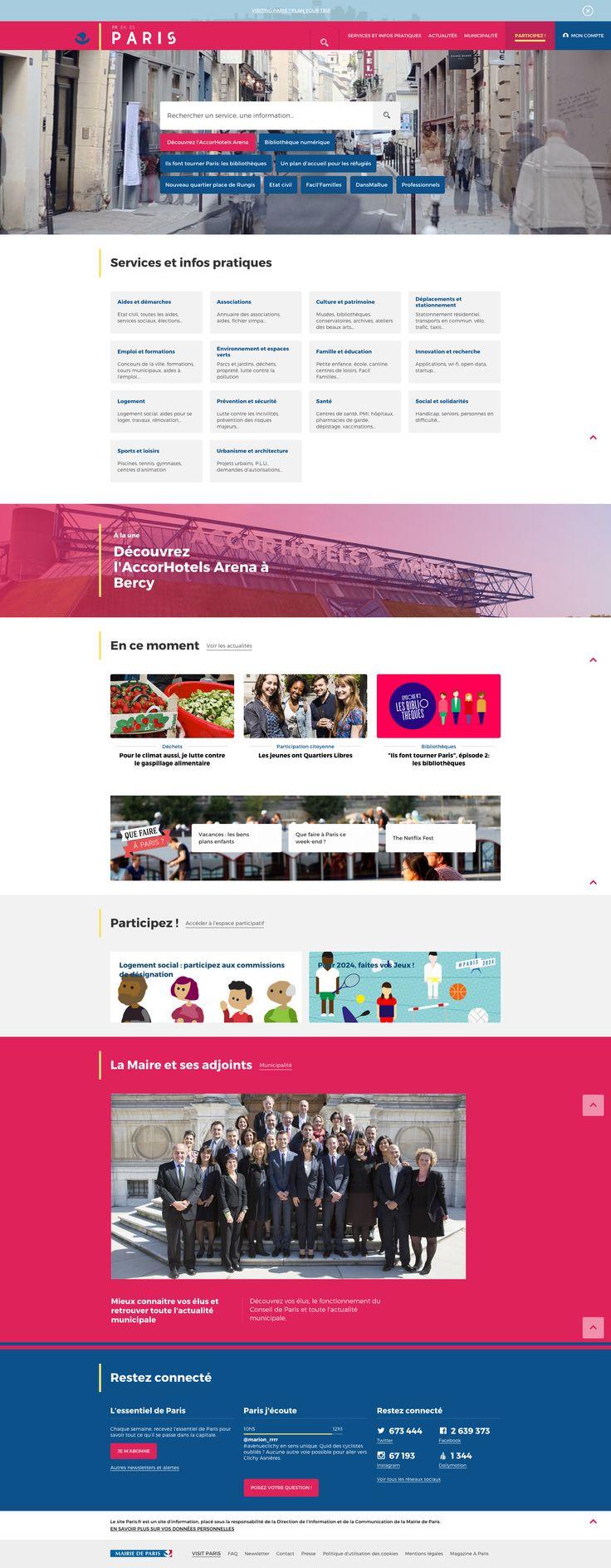 Paris.fr - site institutionnel Penser le parcours utilisateur #UX #marotte