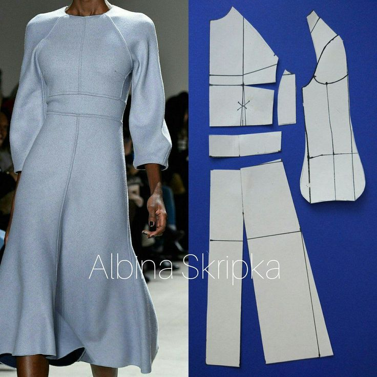 Уже , осень! Пора тепленьких платьиц! Как Вам такое уютное платье? Эта модели была на показе New York Fall 2016   Моделирование выполнено на базовой основе .  Рукав реглан, расширяющийся к низу, втачной пояс, расклешенная юбка .    #АльбинаСкрипка #пошив #моделированиеодежды #sewing #мастеркласспошитью #пошив_на_заказ #шитьемое