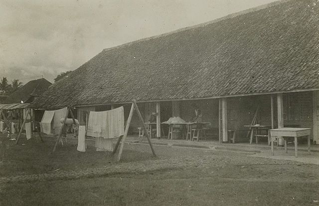 Barracks in Ambarawa in which Europeans were interned