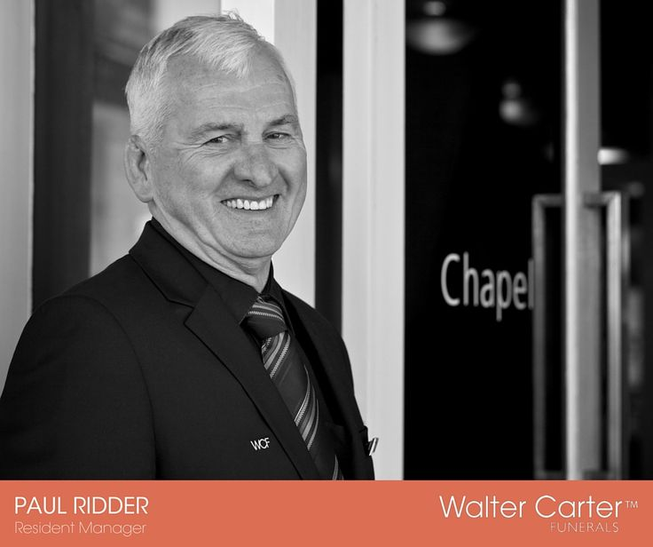 Paul Ridder is a Resident Manager at Walter Carter Funerals.