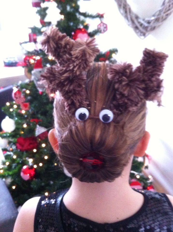 Lika's christmas hair or must I say Rudolph hair...