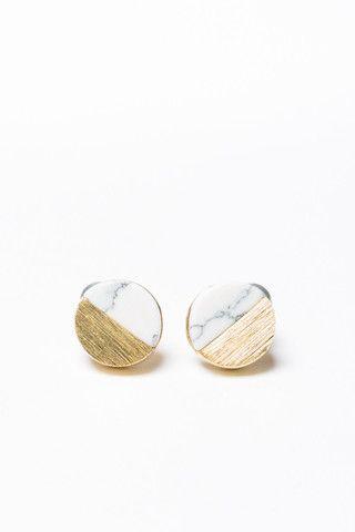 Bo Marble Earrings   Lily