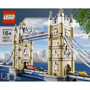 LEGO Creator Tower Bridge 10214:<br>Add London's famous Tower Bridge to your LEGO® world with the Creator Tower Bridge 10214 from LEGO®. Designed with advanced building techniques and rare colors and elements, the LEGO Tower Bridge of London features the iconic paired towers and a drawbridge that really opens. The LEGO Tower Bridge set is recommended for ages 16 and up.