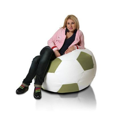 Bean Bag Chair Upholstery: White / Olive - http://delanico.com/bean-bag-chairs/bean-bag-chair-upholstery-white-olive-590694146/