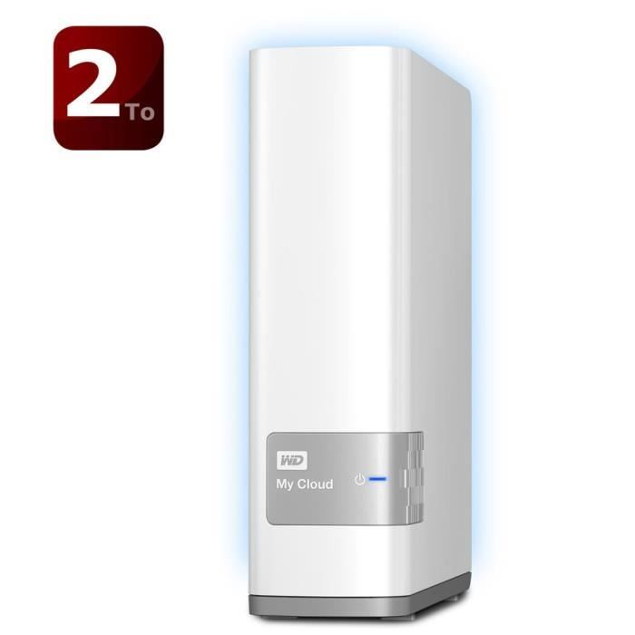 WD My Cloud -NAS/Cloud Personnel 2To WDBCTL0020HWT - Achat / Vente disque dur externe WD My Cloud 2 To - Cdiscount