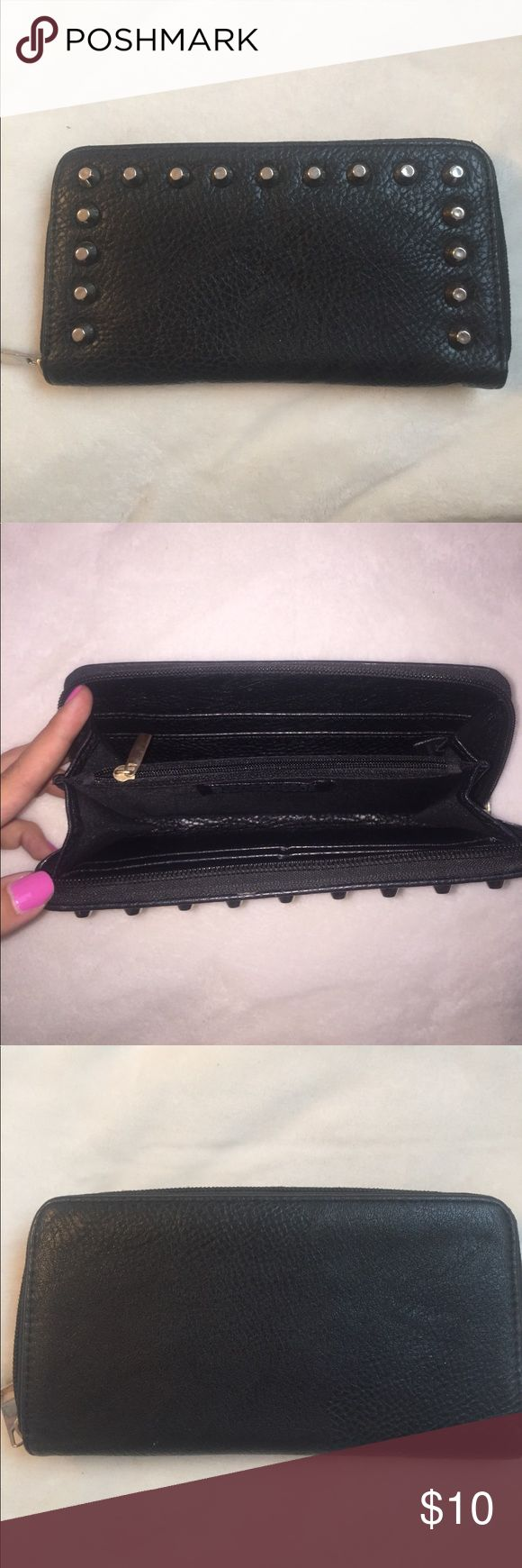 Deena & Ozzy black studded wallet Deena & Ozzy black studded wallet. Good condition. Deena & Ozzy Bags Wallets