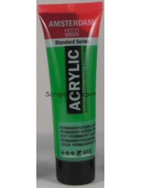 55-618 Amsterdam Acrylverf perm. groen licht 20 ml, Scrapbookdepot
