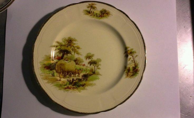 Vintage Alfred Meakin Bread Plate Hayride Pattern