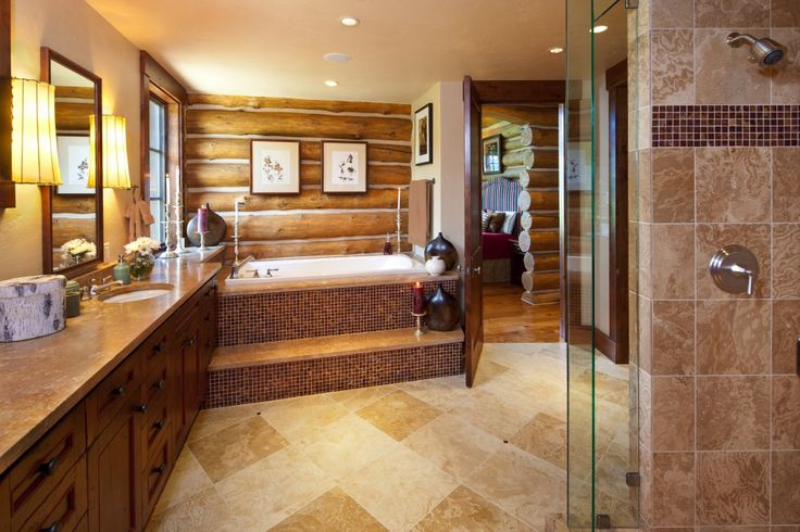 Log Cabin Master Bathrooms. Log Cabin Bathroom Ideas Koselig Hus Log Cabin Master Bathroom