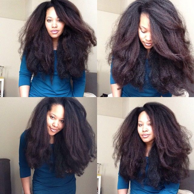 Beautiful..my goal. Protective styling for a year. Will be there soon...DCH.Stretched out natural hair.  Afro hair. Long afro hair. Long natural hair.