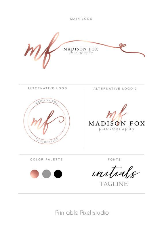 Photography Brand identity package Photography by #PrintablePixel #logos #brandidentity
