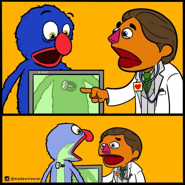 Grover and Dr. Ruster by @madewirawan