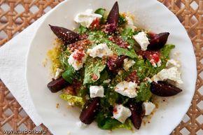 Keçi peyniri ve kavrulmuş pancar ile Salata | Mutfak Alexei Onegin notları