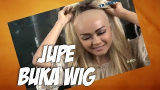 Jupe Sengaja Buka Wig Perlihatkan Kepala Botak