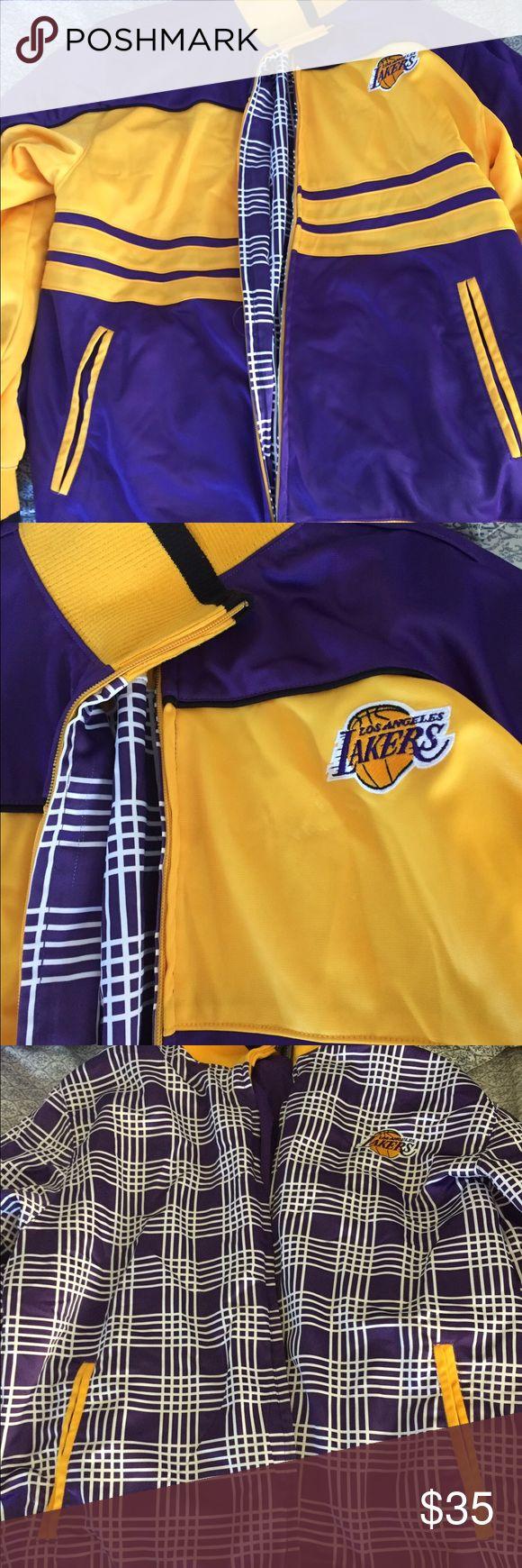Irreversible lakers jacket size XL Irreversible lakers jacket never worn 10/10 Nike Jackets & Coats Bomber & Varsity