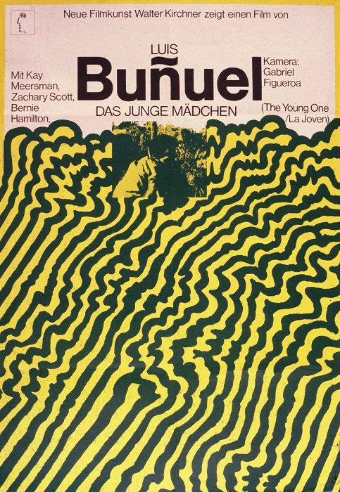 Hans Hillmann, german film poster for Bunuel Young One, 1968.