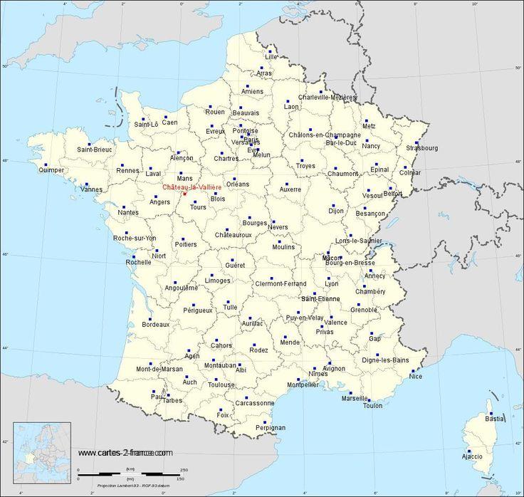CARTE DE CHâTEAU-LA-VALLIèRE : Situation géographique et ...