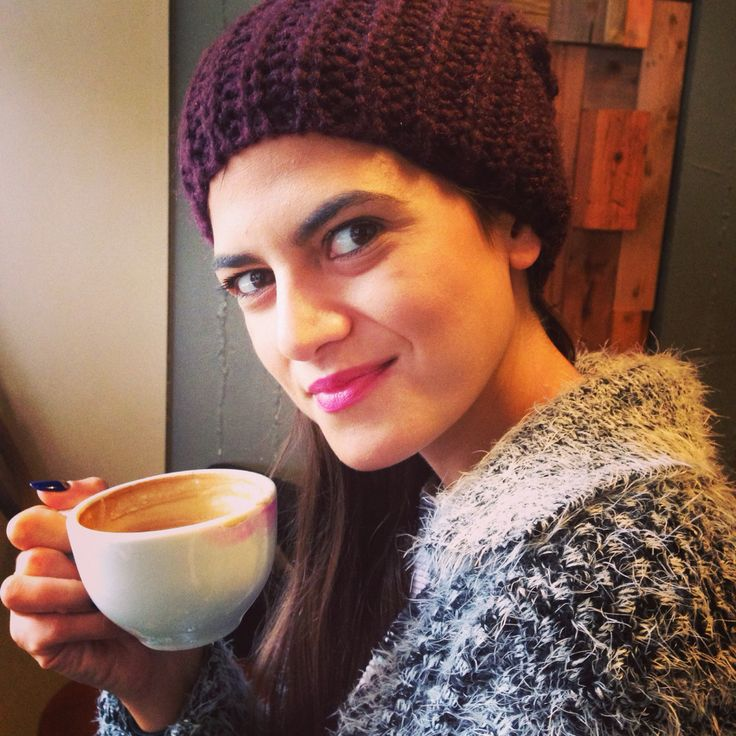 Coffee with my new @hm hat!!