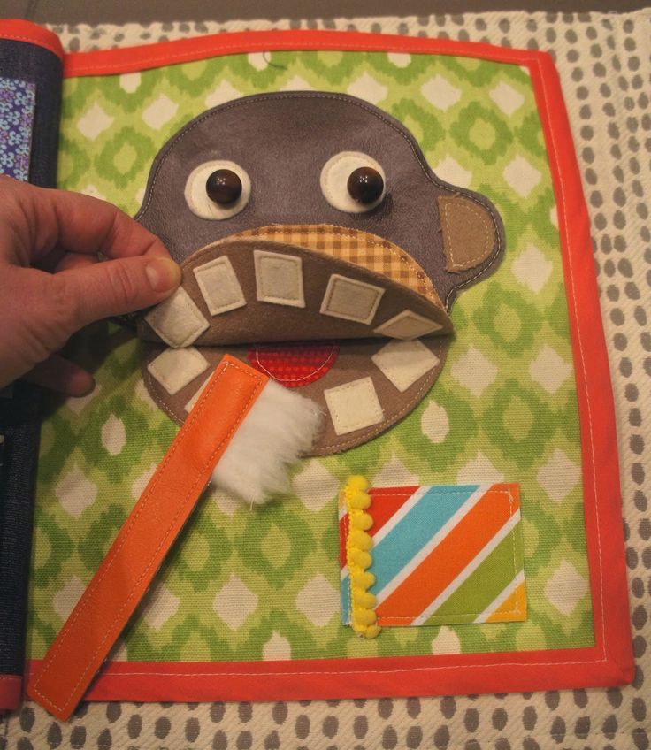 brush teeth quiet book page