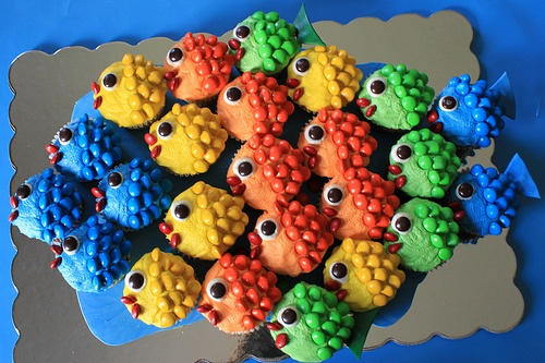 Rainbow trout cupcakes