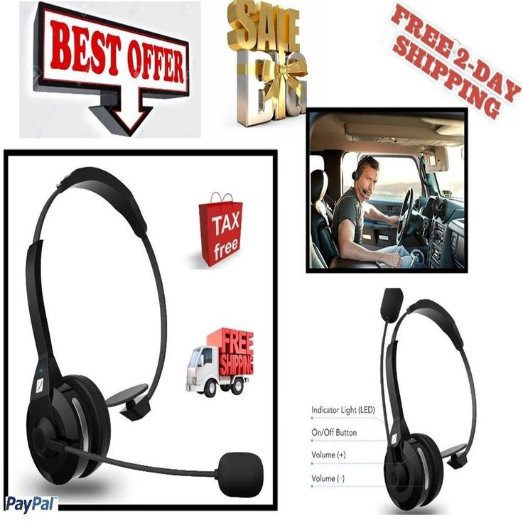 Noise Cancelling Headset Bluetooth Wireless Trucker Parrot W/Microphone 30H Talk #FRiEQ