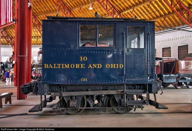 In 1860, the B&O built a network of track along the waterfront at Fells Point in Baltimore to deal with an 1831 city ordinance prohibiting steam power on the streets. Preserved here at the B&O Railroad Museum is a GE B 0-4-0 single truck box car switcher that was built in 1909. An overhead trolley wire provided the power.
