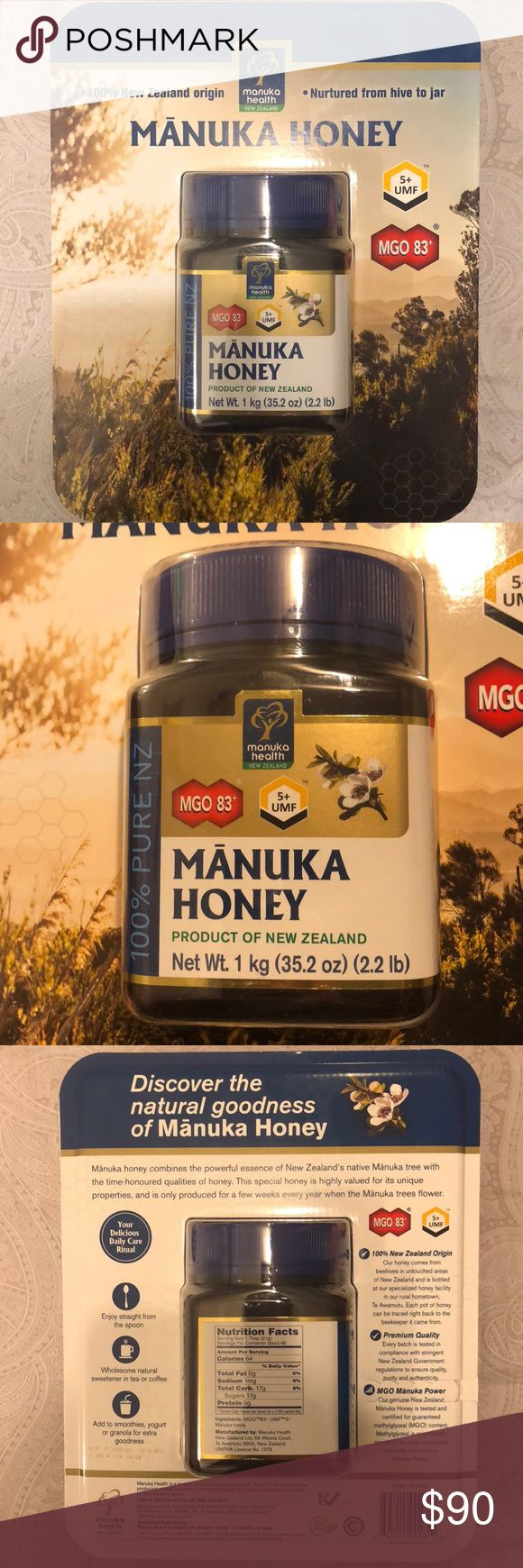 NEW & SEALED 2.2 LBS Manuka Honey from New Zealand Manuka Honey 2.2 lbs New Zealand origin  Brand new and sealed Other