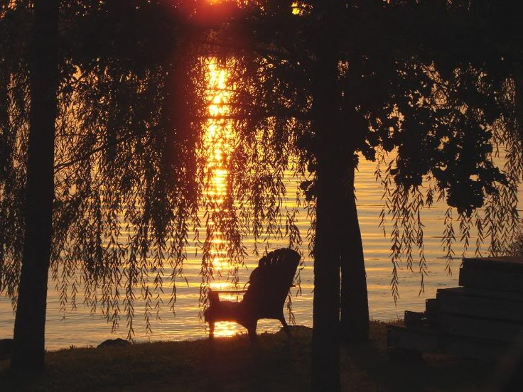 Adirondack (chair) sunset, Pine County, MN
