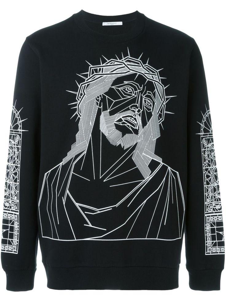 Givenchy sweat à Christ imprimé 550 EUR.