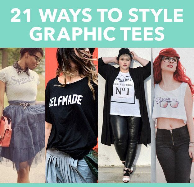 21 Beautiful Ways To Style Graphic Tees