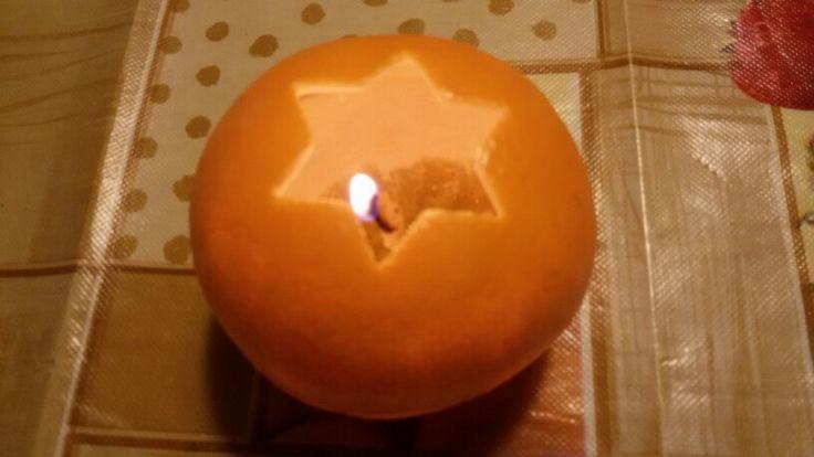 Candela con scorza d'arancia